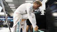 Nico Rosberg při pátečním tréninku v Belgii