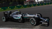 Nico Rosberg během prvního tréninku ve Spa-Francorchamps