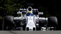 Felipe Massa při pátečním tréninku v Belgii