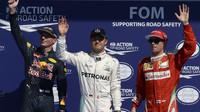FOTO: Sobotní těsná kvalifikace v Belgii a pole-position Rosberga