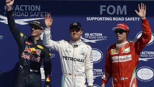 FOTO: Sobotní těsná kvalifikace v Belgii a pole-position Rosberga - anotační obrázek