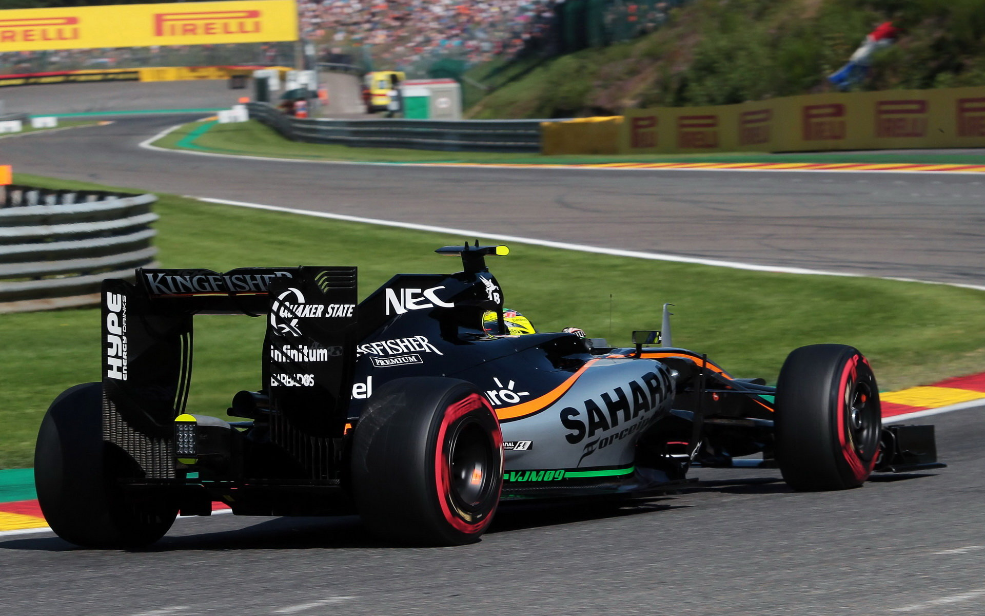 MAXIMÁLNÍ RYCHLOSTI: Pérez se ve Spa řítil 358,2 km/h, Alonso o 11,5 km/h méně - anotační obrázek