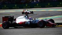 Romain Grosjean v kvalifikaci v Belgii