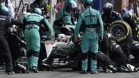 Lewis Hamilton v závodě v Belgii