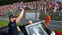 Fanoušci Maxe Verstappena v závodě v Belgii