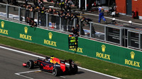 Daniel Ricciardo v cili závodu v Belgii