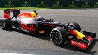 Max Verstappen v závodě v Belgii