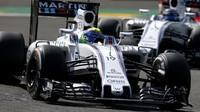 Felipe Massa v závodě v Belgii
