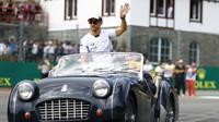 Jenson Button před závodem v Belgii