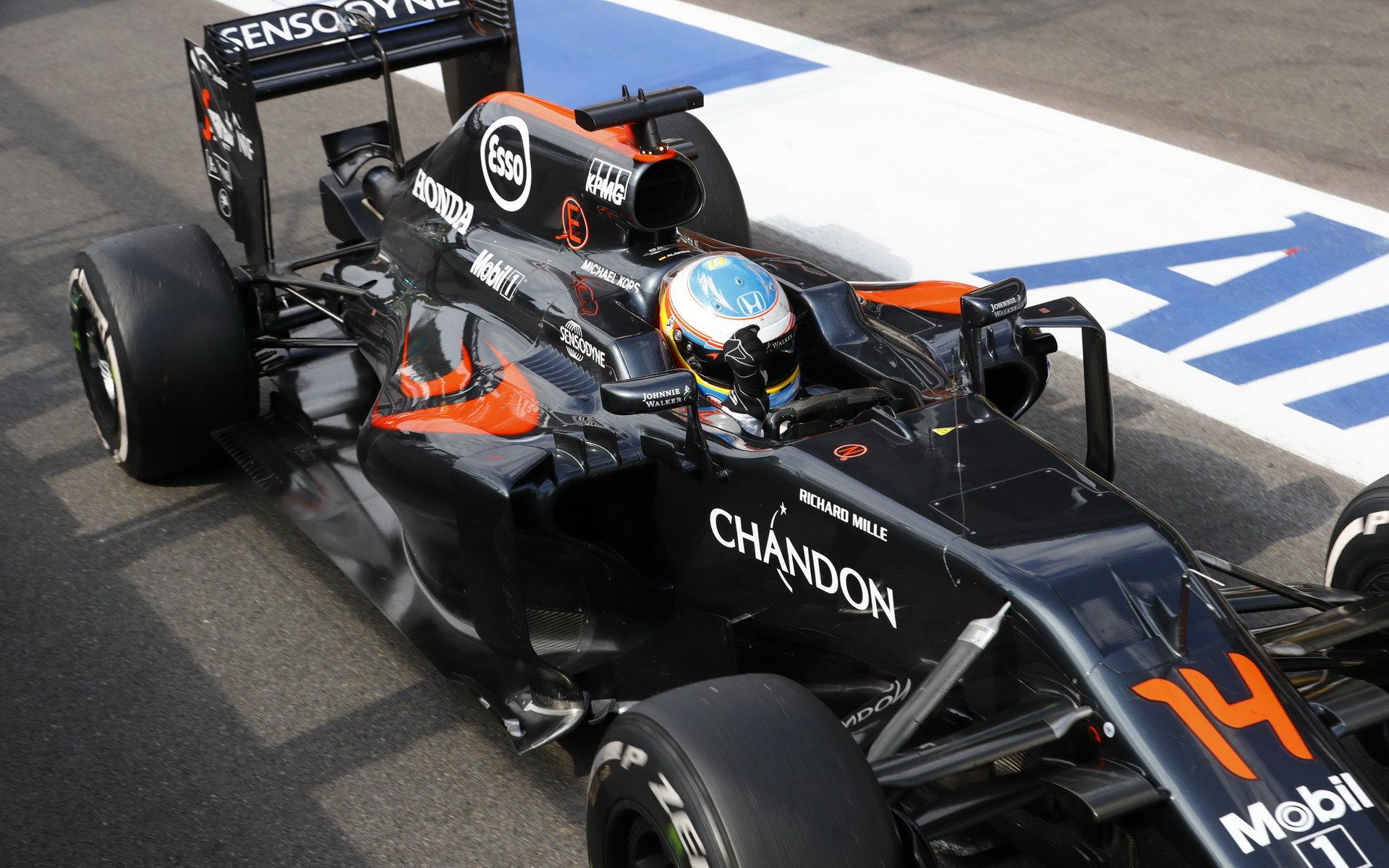 Alonso si vyzkouší v Malajsii vylepšenou Hondu, odstartuje z konce roštu - anotační foto