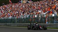 Jenson Button v závodě v Belgii
