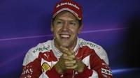 Sebastian Vettel po kvalifikaci na Monze