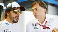 Fernando Alonso a Jost Capito v Monze