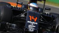 Fernando Alonso v kvalifikaci na Monze