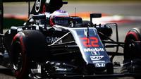 Jenson Button v kvalifikaci na Monze