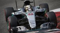 Lewis Hamilton v kvalifikaci na Monze