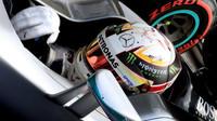 Lewis Hamilton po kvalifikaci na Monze