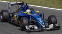 Marcus Ericsson v kvalifikaci na Monze