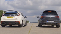 Honda Civic Type R vyzvala na souboj VW Golf GTI Clubsport S