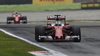 Sebastian Vettel v závodě na Monze