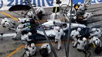 Valtteri Bottas v závodě na Monze