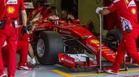 Ferrari při testu širších pneumatik Pirelli pro sezónu 2017