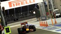 Daniel Ricciardo v kvalifikaci v Singapuru