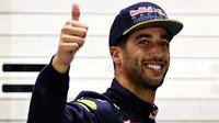 Daniel Ricciardo po v kvalifikaci v Singapuru