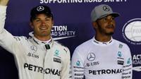 Nico Rosberg a Lewis Hamilton kvalifikaci v Singapuru