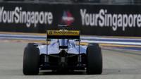 Marcus Ericsson při sobotním tréninku v Singapuru