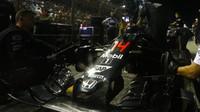 Fernando Alonso před závodem v Singapuru