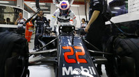 Jenson Button před závodem v Singapuru