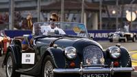 Jenson Button při prezentaci před závodem v Singapuru