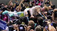 Nico Rosberg po závodě v Singapuru