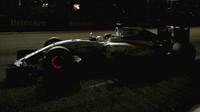 Felipe Massa a jeho žhavé brzdové kotouče v závodě v Singapuru