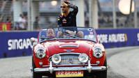 Daniel Ricciardo při prezentaci před závoden v Singapuru