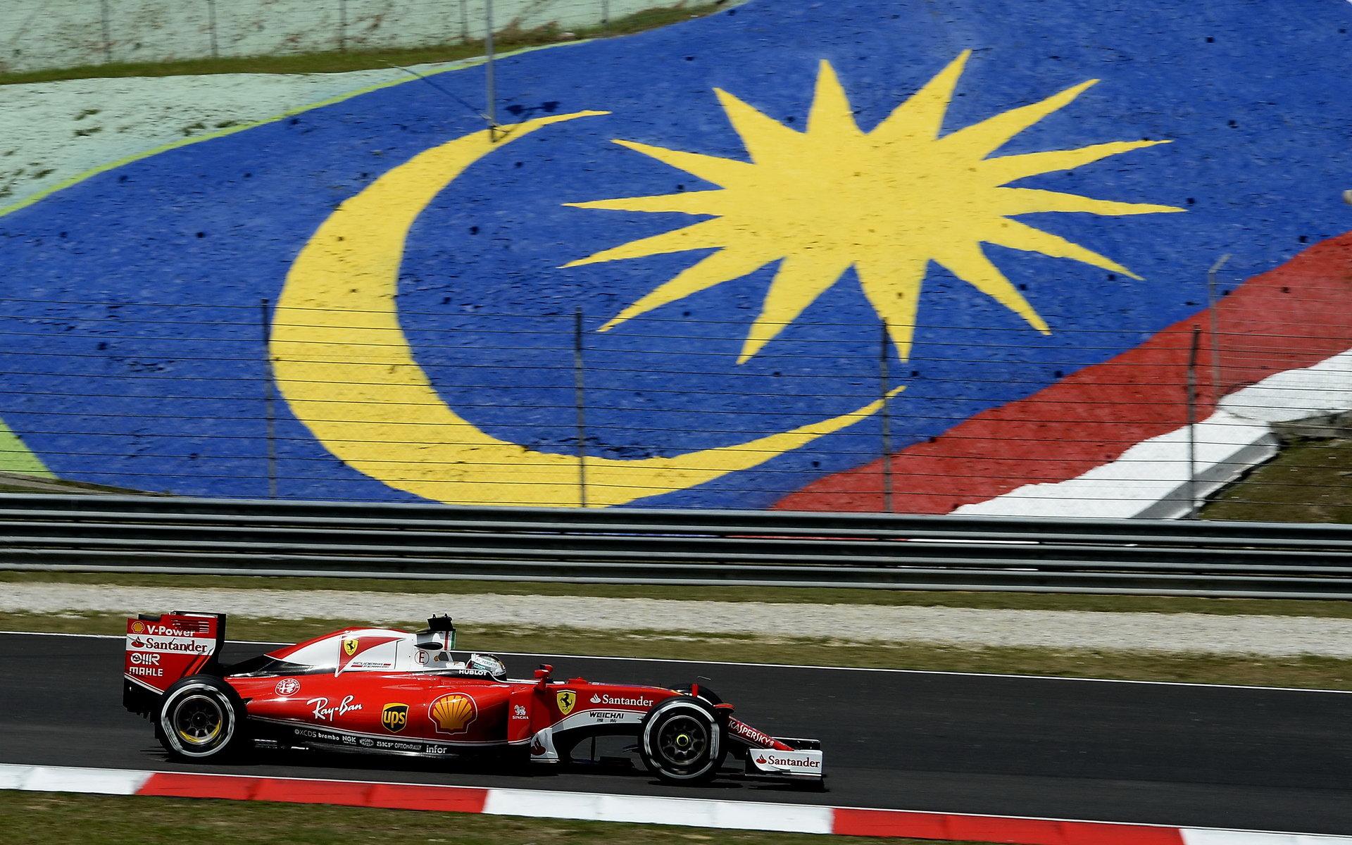 Vettel: Ferrari musí být ohledně našich šancí v Malajsii realistické - anotační obrázek