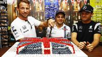 Jenson Button, Felipe Massa a Nico Rosberg v Malajsii