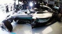 Nico Rosberg při pátečním tréninku v Malajsii