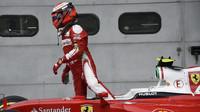 Kimi Räikkönen po kvalifikaci v Malajsii