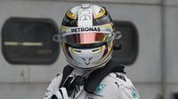 Lewis Hamilton po kvalifikaci v Malajsii