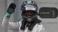 Nico Rosberg po kvalifikaci v Malajsii
