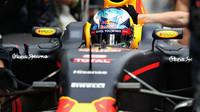 Daniel Ricciardo v kvalifikaci v Malajsii