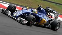 Marcus Ericsson v kvalifikaci v Malajsii