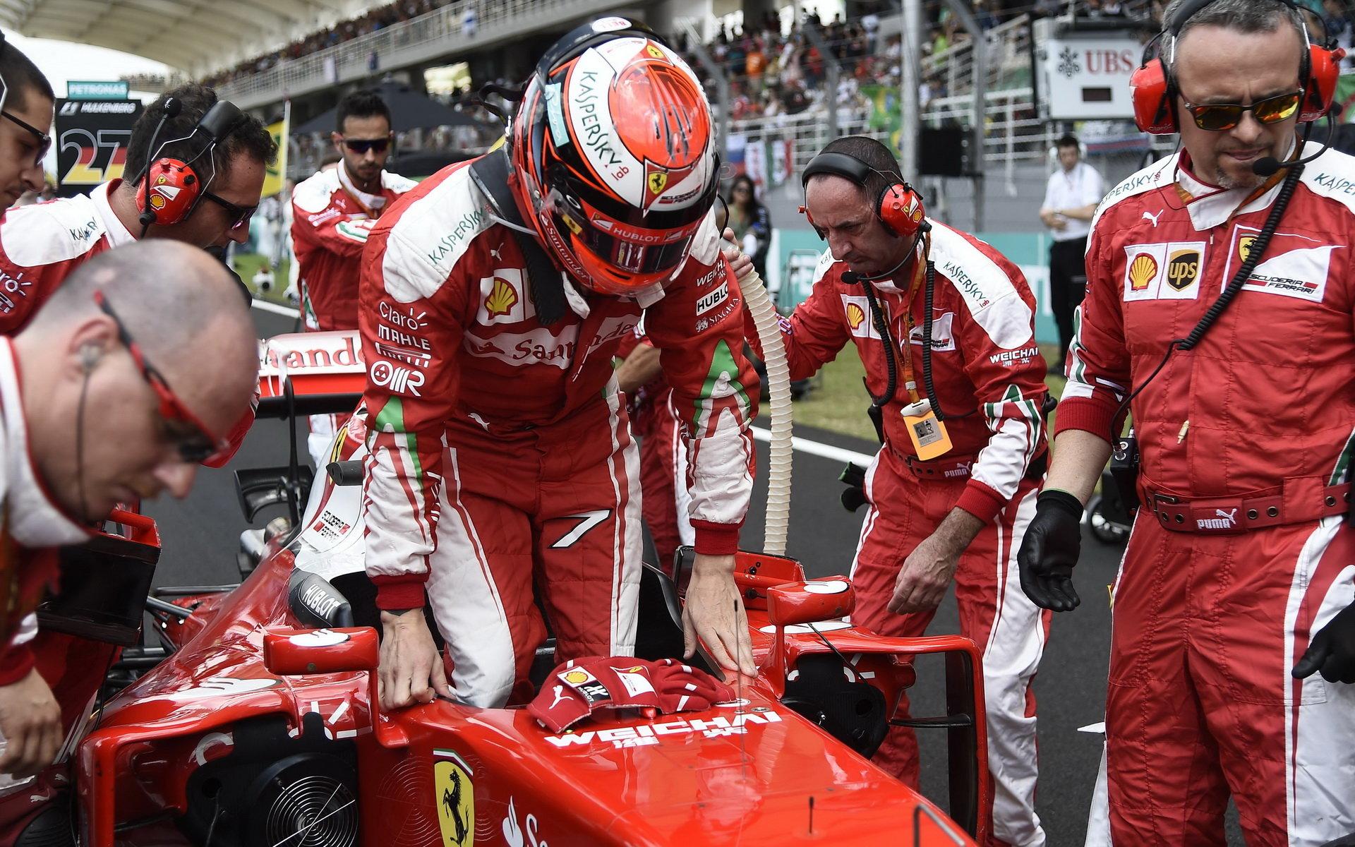 Kimi Räikkönen před závodem v Malajsii