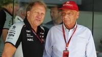 Robert Fernley a Niki Lauda v Malajsii