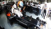 Fernando Alonso před závodem v Malajsii