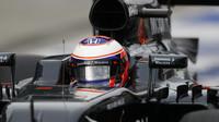 Jenson Button v závodě v Malajsii