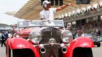 Lewis Hamilton před závodem v Malajsii