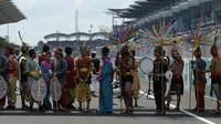 Slavnostní zahájení před závodem v Malajsii